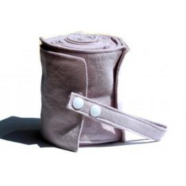 Rouleau de 20 feuilles de papier toilette lavable en flanelle - vieux rose et sans bouton pression
