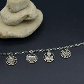 Bracelet aux 4 médaillons Astamangalas - Collection bouddhiste