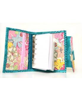Organiseur planner Pocket A7, portefeuille planner avec papier A7, planner de poche, compagnon femme en simili cuir dragon jaune