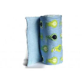 Rouleau d'essuie-tout lavable - 10 feuilles - poires verte - coton et éponge