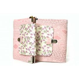 Planner organiseur A5 en Liberty Roz rose et simili-cuir dragon rose, avec fermeture sécurisée, agenda rechargeable