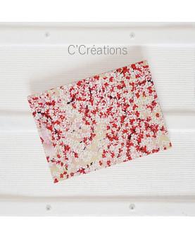 Livre d'or - Sakura - coloris rouge, rose, doré et blanc