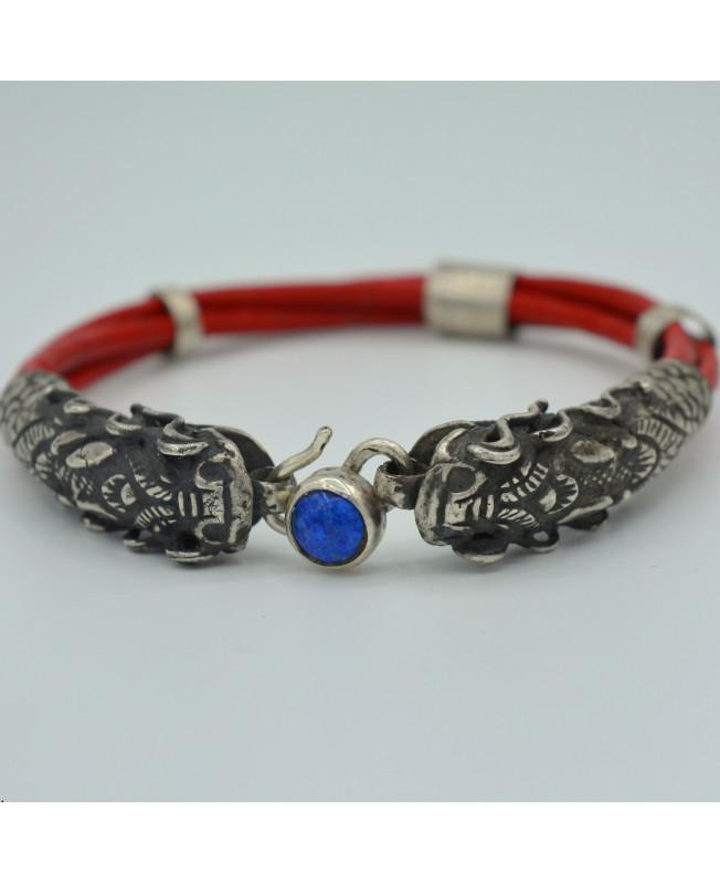 bracelet cuir dragon