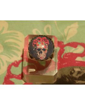 Muerte Floral y Geométrica Bague Bronze