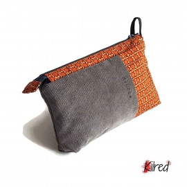 BILI - Trousse Gris/Orange