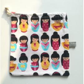 Les sacs à goûter de Mimi - Kokeshis