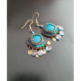 Boucles d'oreilles SO CUTE chrysocolle