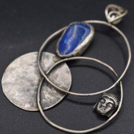 Pendentif - Buddha et Lapis-lazuli