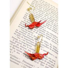 Boucles d'oreilles Dragon – Collection «Terre du Milieu» - Bijou littéraire en papier plié