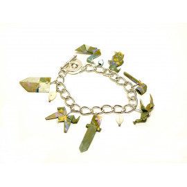 Bracelet Terre du Milieu  – Collection «Terre du Milieu» - Bijou littéraire en papier plié