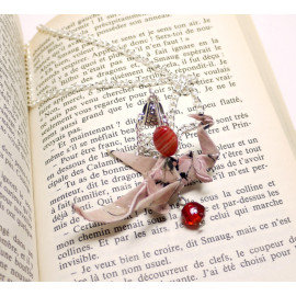 Collier Dragon  – Collection «Terre du Milieu» - Bijou littéraire en papier plié