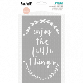 Pochoir - Enjoy the little things - Kesi'art