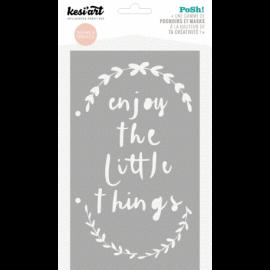 Pochoir - Enjoy the little things - Kesi'art