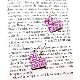 Boucles d'oreilles Coeur – Collection «Alice» - Bijou littéraire en papier plié