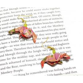Boucles d'oreilles Panthère – Collection «Jungle» - Bijou littéraire en papier plié