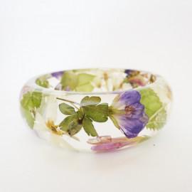 Bracelet fleurs tons pastels