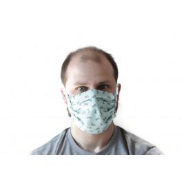 Masque lavable à lanières - non homologué - ton vert lézards