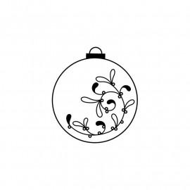 Tampon bois - Boule de Noël - Artemio