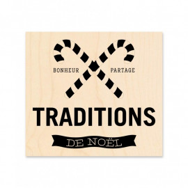 Tampon bois - Traditions de Noël - Kesi'art