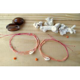 Bracelet macramé, coloris au choix, perles de miyuki, coquillage cauris, idée cadeau anniversaire