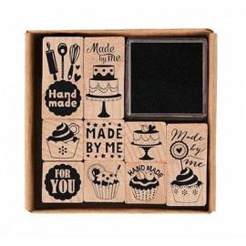 Lot tampons bois - Pâtisserie - Rico Design