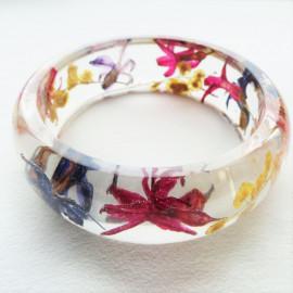 Bracelet Fleurs de jacinthe et mimosa