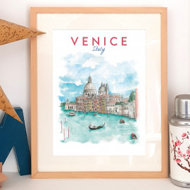 Venice ITALY - Affiche - Reproduction