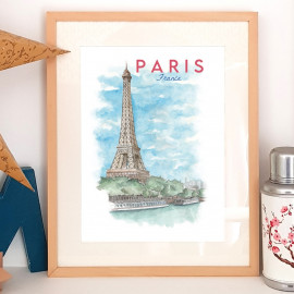 Paris FRANCE - Affiche - Reproduction