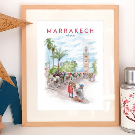 Marrakech - MOROCCO - Affiche - Reproduction