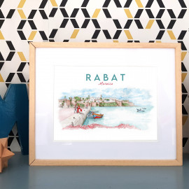 Kasbah, Rabat - MOROCCO - Affiche - Reproduction