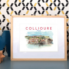 Collioure FRANCE - Affiche - Reproduction