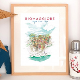 Riomaggiore ITALY - Affiche - Reproduction