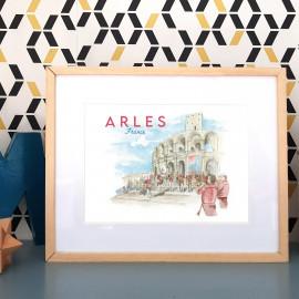Affiche Feria d'Arles FRANCE - poster des penas près des arènes