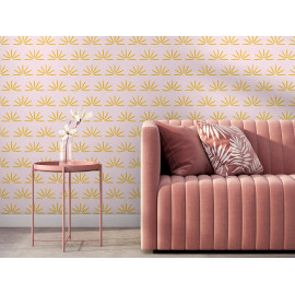 Jeanne - Rose poudré / Jaune d'or - Grand motif