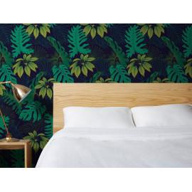 Barnett - Dark blue / Green - Grand motif