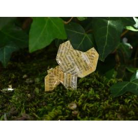 Broche Ours – Collection «Jungle» - Bijou littéraire en papier plié