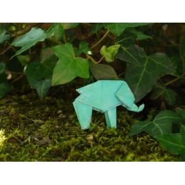 Broche Elephant – Collection «Jungle» - Bijou littéraire en papier plié