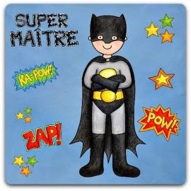 Carte Super Maître fin d'année super héros