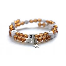 Bracelet d'allaitement de couleur marron - perles acrylique à facettes