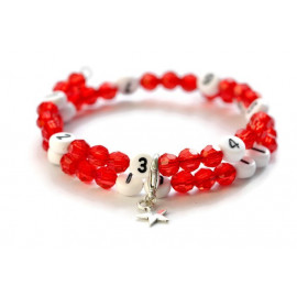 Bracelet d'allaitement de couleur rouge - perles acrylique à facettes