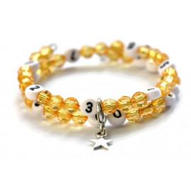 Bracelet d'allaitement de couleur orange - perles acrylique à facettes