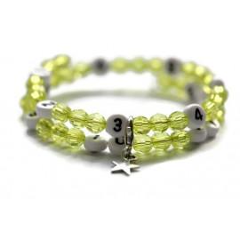 Bracelet d'allaitement de couleur vert claire - perles acrylique à facettes