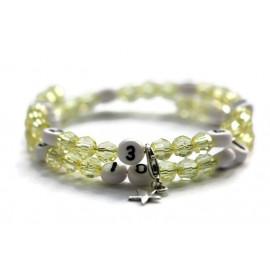 Bracelet d'allaitement de couleur jaune claire - perles acrylique à facettes