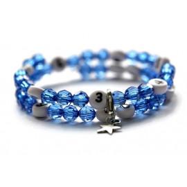 Bracelet d'allaitement de couleur bleu foncé - perles acrylique à facettes