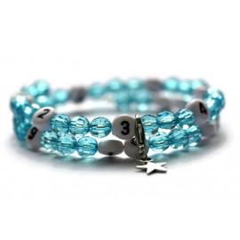Bracelet d'allaitement de couleur turquoise - perles acrylique à facettes