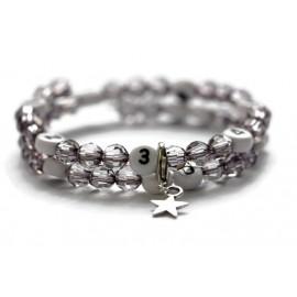Bracelet d'allaitement de couleur noir transparent - perles acrylique à facettes
