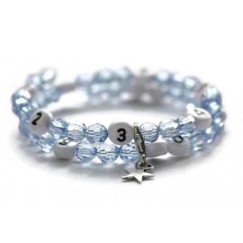 Bracelet d'allaitement de couleur bleu - perles acrylique à facettes