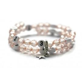 Bracelet d'allaitement de couleur saumon claire - perles acrylique à facettes