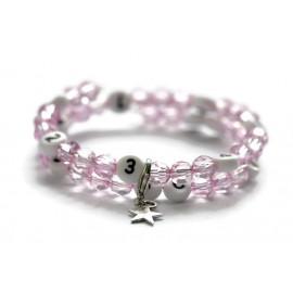 Bracelet d'allaitement de couleur violet claire - perles acrylique à facettes