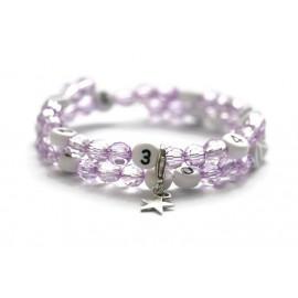 Bracelet d'allaitement de couleur violet - perles acrylique à facettes
